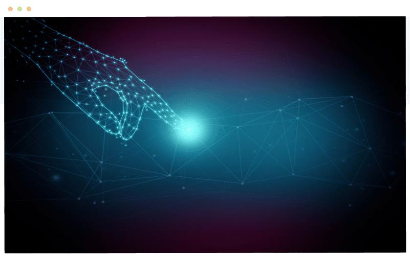 mano digitale blu asset tracking